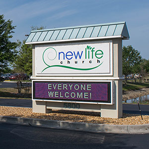 New Life Church Sign - Everyone Welcome!