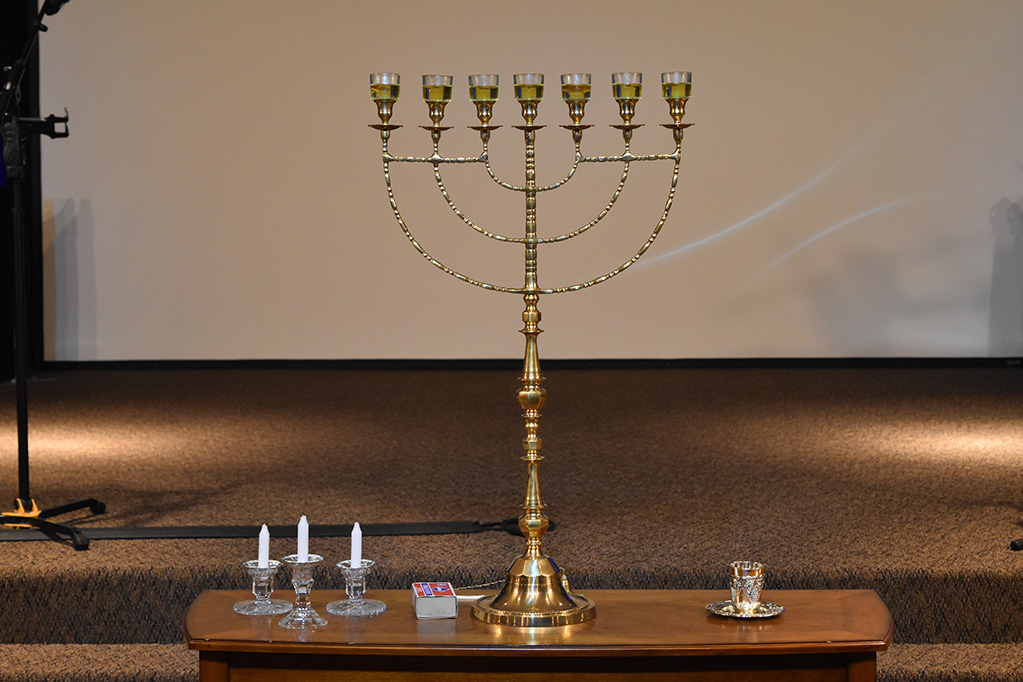 Menorah and Shabbat Candles