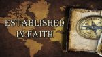 Established in Faith Center Screen Graphic