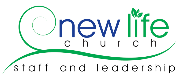 New Life Logo plus words staff and leadership