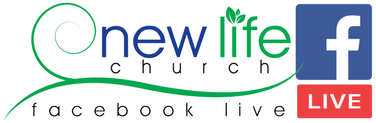 """New Life Logo combined with Facebook Live Logo and words """"Facebook Live"""""""