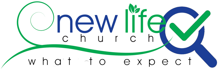 New Life Logo with magnifying glass and check mark - what to expect
